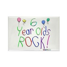 6 Year Olds Rock ! Rectangle Magnet