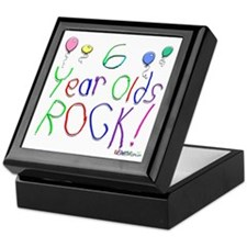 6 Year Olds Rock ! Keepsake Box