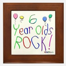 6 Year Olds Rock ! Framed Tile