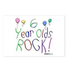 6 Year Olds Rock ! Postcards (Package of 8)