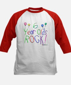 6 Year Olds Rock ! Kids Baseball Jersey