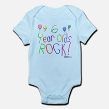 6 Year Olds Rock ! Infant Bodysuit