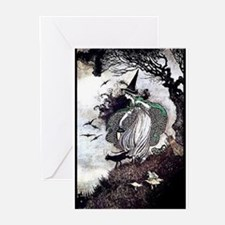 All Hallow's Witch Greeting Cards