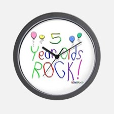 5 Year Olds Rock ! Wall Clock