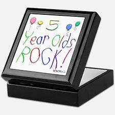 5 Year Olds Rock ! Keepsake Box