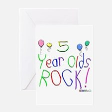 5 Year Olds Rock ! Greeting Card