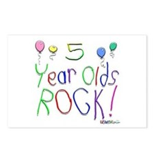 5 Year Olds Rock ! Postcards (Package of 8)