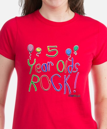 5 Year Olds Rock ! Women's Dark T-Shirt