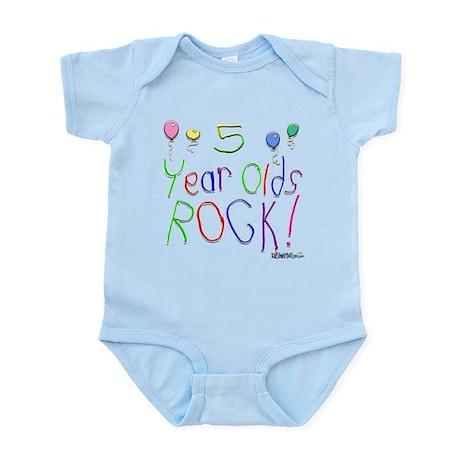 5 Year Olds Rock ! Infant Bodysuit