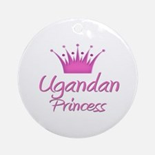 Ugandan Princess Ornament (Round)