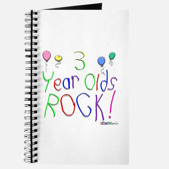 3 Year Olds Rock ! Journal