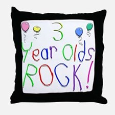 3 Year Olds Rock ! Throw Pillow