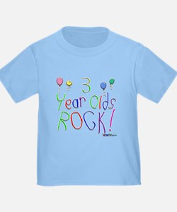 3 Year Olds Rock ! T