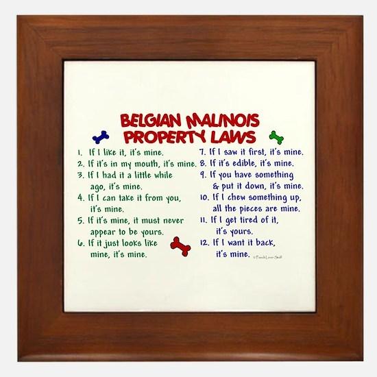 Belgian Malinois Property Laws 2 Framed Tile