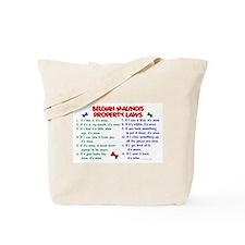 Belgian Malinois Property Laws 2 Tote Bag