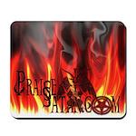 Praise Satan www.praisesatan.com Mousepad