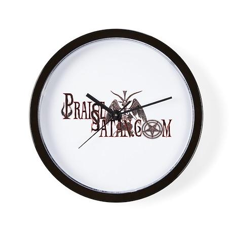 Praise Satan www.praisesatan.com Wall Clock