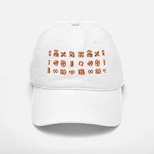 Adinkra Symbols in Orange And Black Baseball Baseball Cap