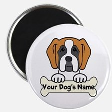 Personalized Saint Bernard Magnet