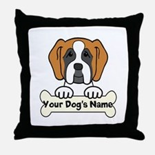 Personalized Saint Bernard Throw Pillow