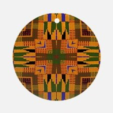 Kente Pattern 3 Round Ornament