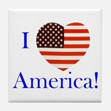 I Love America! Tile Coaster