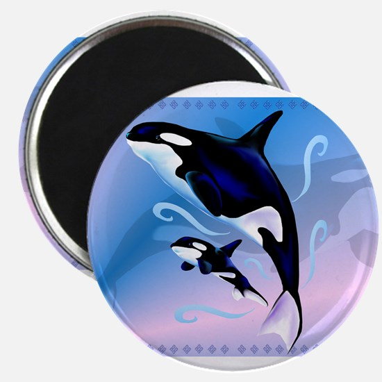 Orca Mom and Baby Magnets