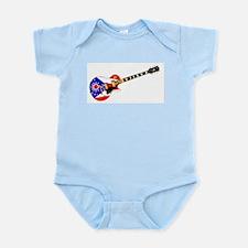 Ohio State Flag Guitar Body Suit
