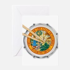 Florida Snare Drum Greeting Cards