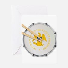 Mississippi Snare Drum Greeting Cards