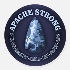 Apache Strong Round Car Magnet