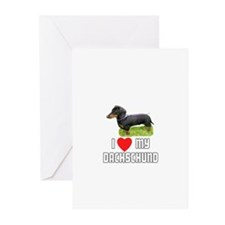 I Love My Dachschund Greeting Cards (Pk of 10)