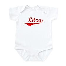 Litzy Vintage (Red) Infant Bodysuit
