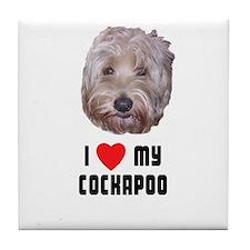 I Love My Cockapoo Tile Coaster