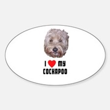 I Love My Cockapoo Oval Decal