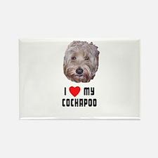 I Love My Cockapoo Rectangle Magnet