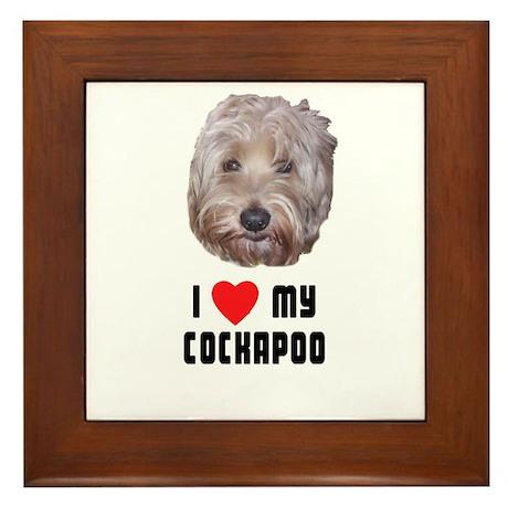 I Love My Cockapoo Framed Tile