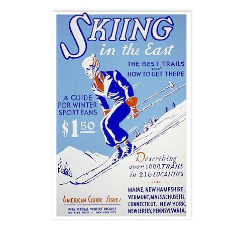 Ski Skiing Skier Postcards (Package of 8)