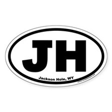 Jackson Hole, WY Oval Decal