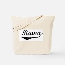 Raina Vintage (Black) Tote Bag