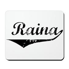 Raina Vintage (Black) Mousepad