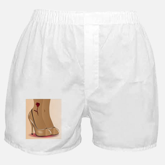 Red Ankle Tattoo Boxer Shorts