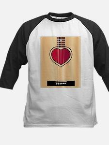 Love Acoustic Guitar Baseball Jersey