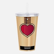 Love Acoustic Guitar Acrylic Double-wall Tumbler