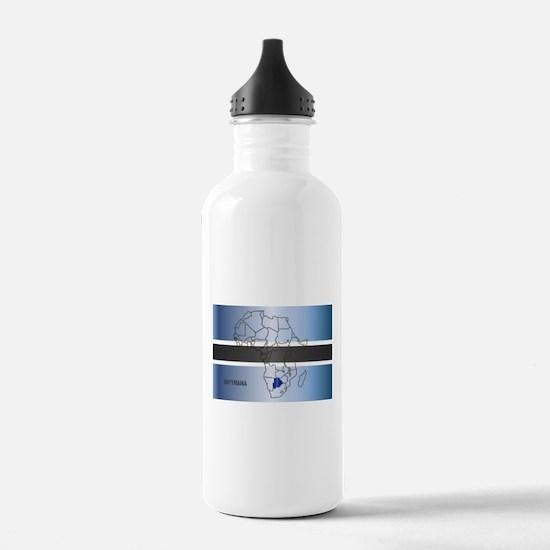 Botswana Isolated On M Water Bottle