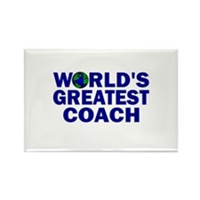 World's Greatest Coach Rectangle Magnet (100 pack)