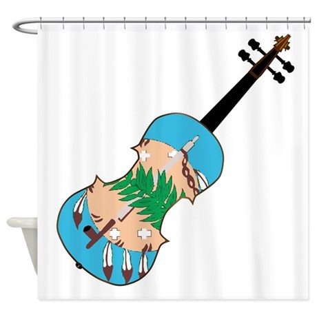Oklahoma State Fiddle Shower Curtain By Admin Cp133759785