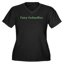Fairy Godmother Women's Plus Size V-Neck Dark T-Sh