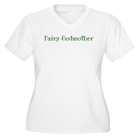 Fairy Godmother Women's Plus Size V-Neck T-Shirt