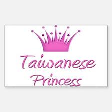 Taiwanese Princess Rectangle Decal
